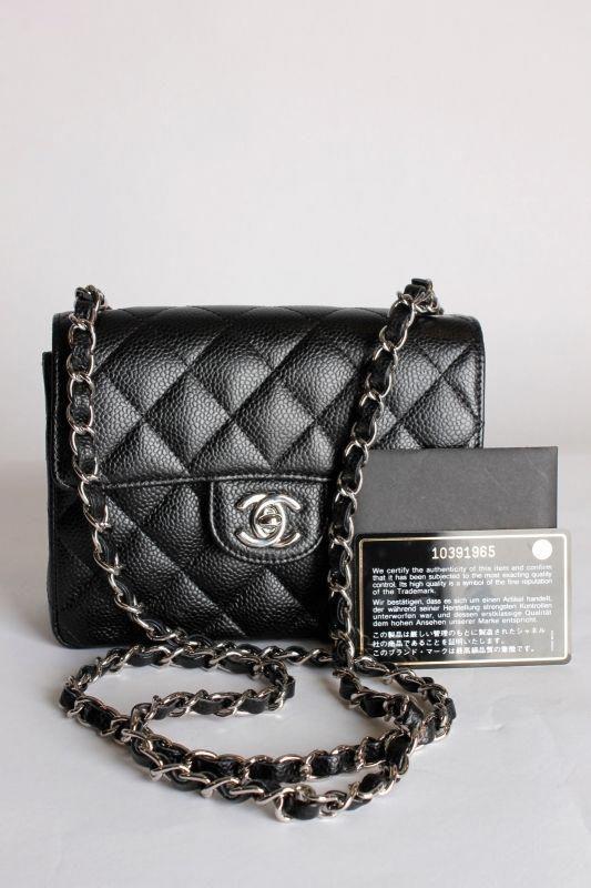9118582e64ff0 Chanel 2.55 Mini Classic Flap Bag - black caviar leather  Chanelhandbags