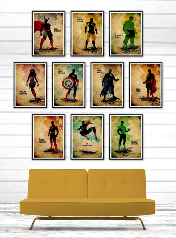 All Time Best Superheroes Minimalist Movie Poster by moonposter  I. Need. This.