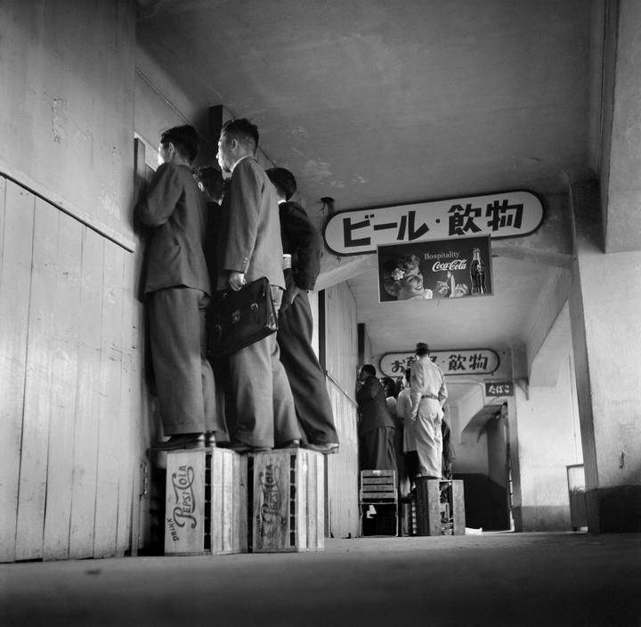 Peeping Toms, Tokyo, 1951 by Werner Bischof