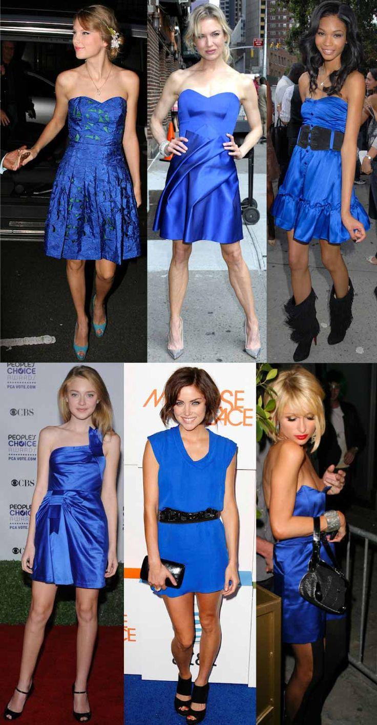 Smalto da abbinare a vestito blu elettrico