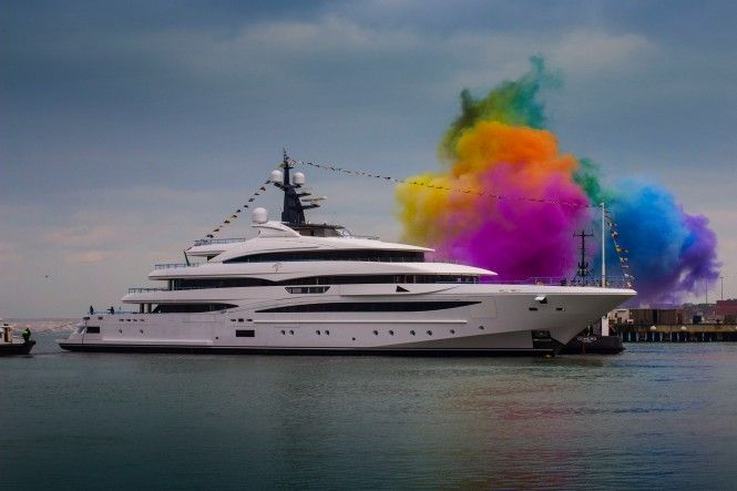 New 74 metre Yacht CLOUD 9 Launched by CRN