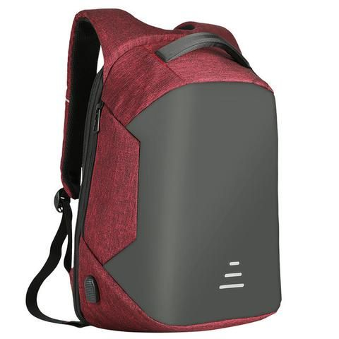 """Anti-theft Men's Backpack For 15.6 Inch Laptop With External USB - Black,Blue,Gray,Red  Mens Business College Student Stylish For men best  Travel Accessories Cool Fashion Macbook Pro 15.6"""" Notebooks Products for sale buy online websites shops shopping store shop link websites gift ideas for him USA Canada Australia France"""