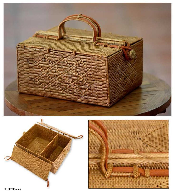 'Tropical'  Ate grass basket.   Picnic basket?