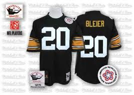 Pittsburgh Steelers #20 Rocky Bleier Black Throwback Jersey