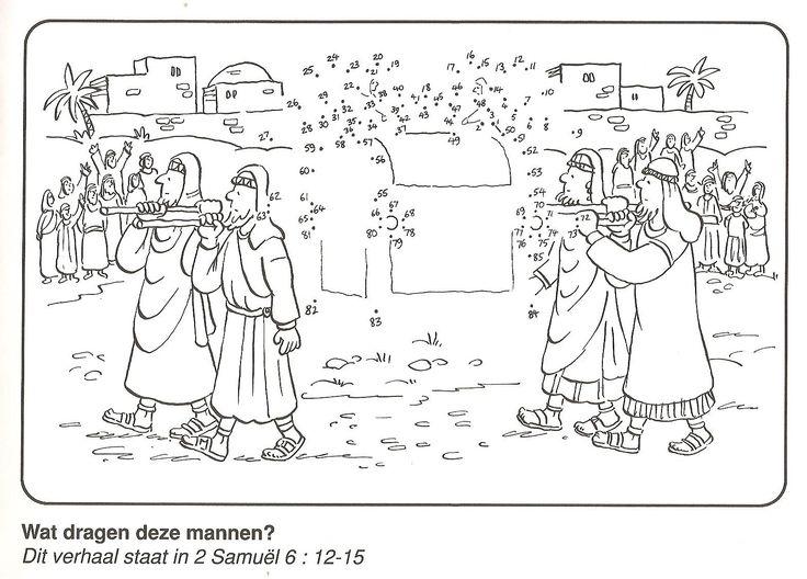 Wat dragen deze mannen? 2 Samuel 6:12-15 van stip naar stip