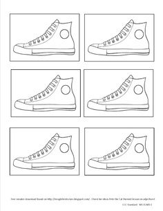 pete the cat white shoes printable - Google Search