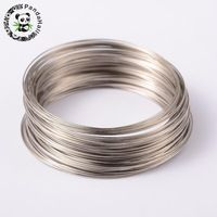 65mm Color Platinum Steel Wire Memory for Bracelets that make Jewelry results around 100 circles / unit