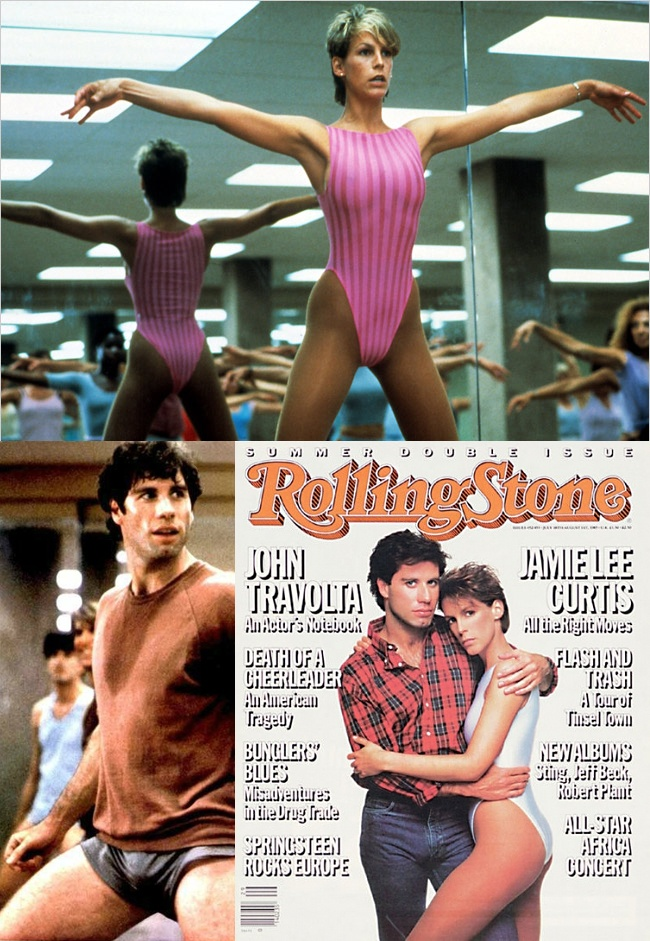 Jamie Lee Curtis & John Travolta in Perfect (1985)