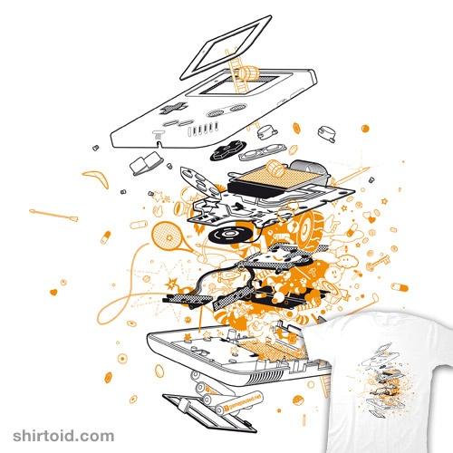 Exploded Game Boy