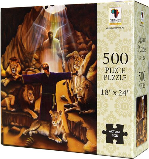 PUZ04 Daniel in the Lions' Den 500-piece puzzle, by African American Expressions