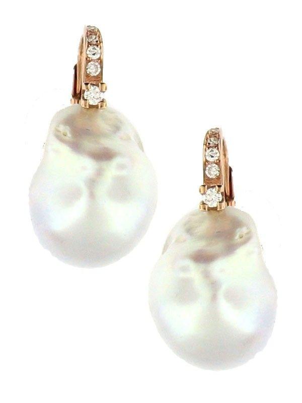 Baroque Pearl Earrings l Jennifer Miller NY