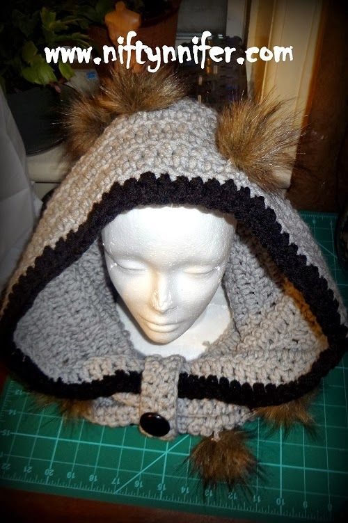 Niftynnifer's Crochet & Crafts: So Simple Free Adult Bulky Hood Cowl - Free Crochet Pattern.