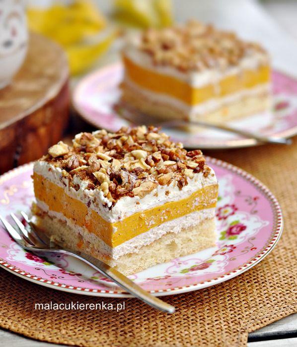 Ciasto z kremem dyniowym