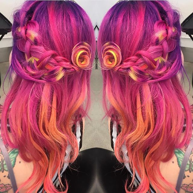 1000 images about phoenix hair fire sunset pink red orange yellow purple on pinterest. Black Bedroom Furniture Sets. Home Design Ideas