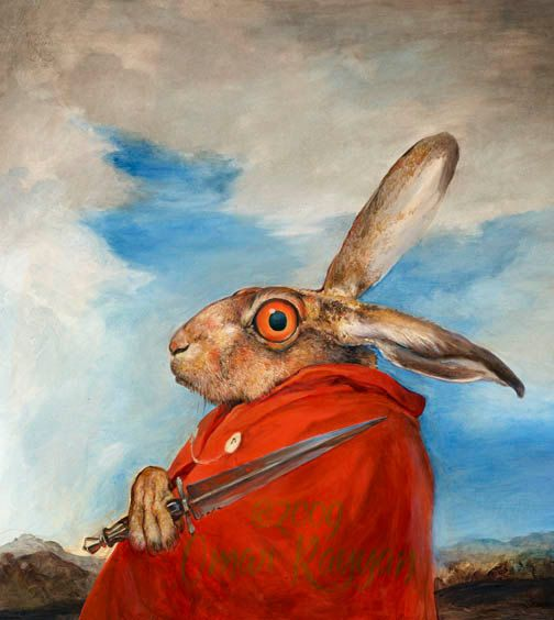 The March Hare (print)- this guy cracks me up every time I see him with that oogle eye. this artist does wonderful pieces