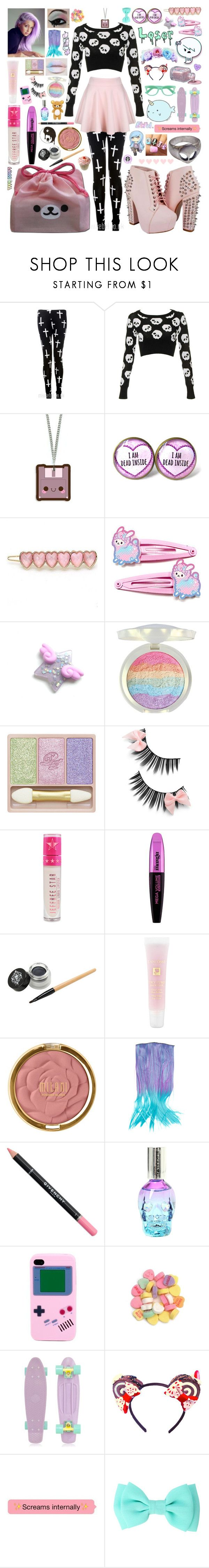 """""""How To Be A Pastel Goth 2"""" by aspiretoinspire22 ❤ liked on Polyvore featuring Nico, Paul & Joe Beaute, Jeffree Star, L'Oréal Paris, Lancôme, Milani, Givenchy, Retrò and Amie"""