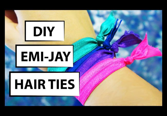 how to make stretch elastic hair ties