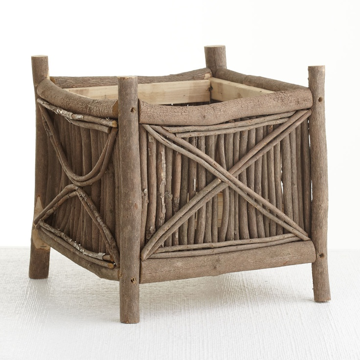 This Adirondack Planter would make a great magazine or throw holder.