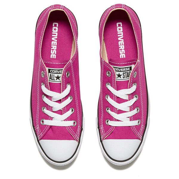 Converse Women's Chuck Taylor All Star Dainty Ox Trainers Plastic... ($68) ❤ liked on Polyvore featuring shoes, sneakers, converse footwear, pink shoes, star shoes, converse shoes and pink trainers