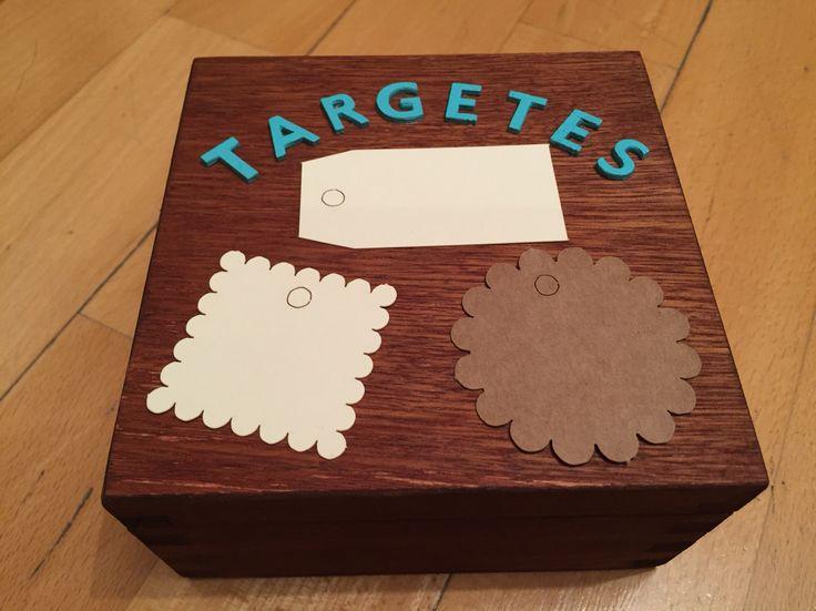 Caja te ida con tinte de madera color nogal letras - Pintura para madera barnizada ...