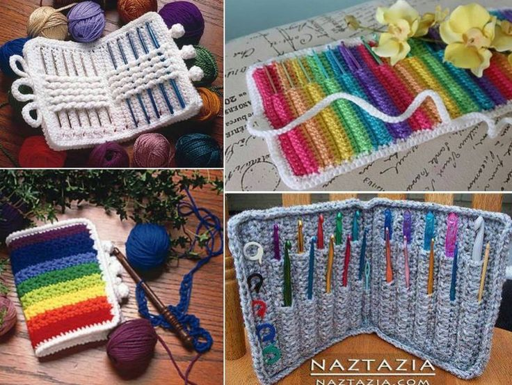 Crochet Knitting Needle Case Pattern : 17 Best ideas about Crochet Case on Pinterest Chrochet, Crochet bags and Cr...