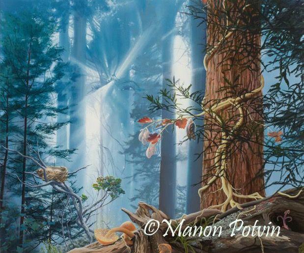 Manon Potvin. Oil painting. Art