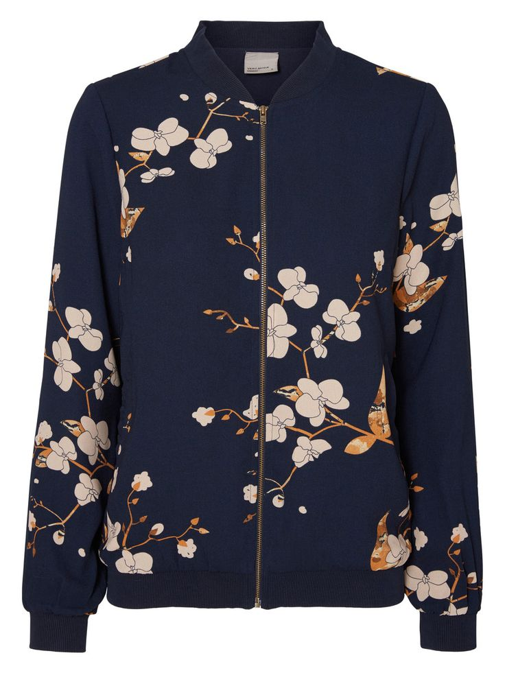 Flower printed bomber from VERO MODA. Style it with out matching skirt for a cute summer look.