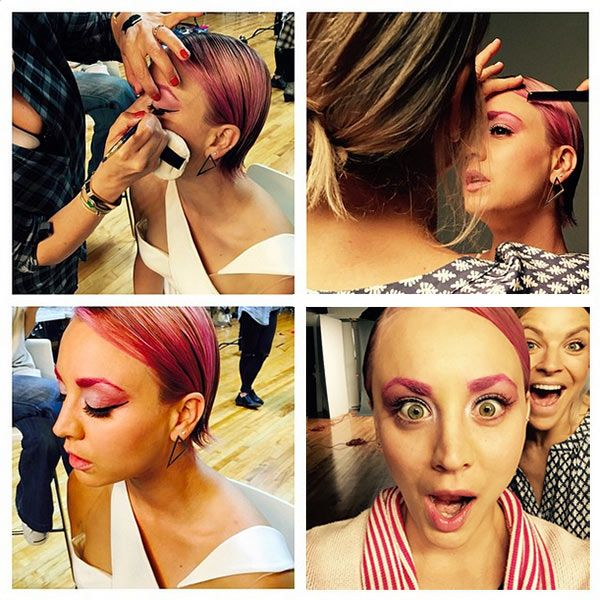 Kaley Cuoco Dyes Eyebrows Pink — Love OrLoathe?