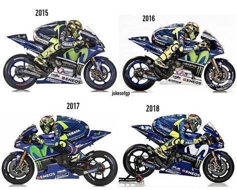 320 vind-ik-leuks, 1 reacties - Valentino Rossi Fanpage (@vr_46legend) op Instagram: 'Yamaha M1 . 2015-2018 @valeyellow46'