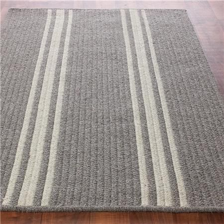 French Feedsack Striped Rug