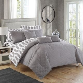 Shop for Chic Home Stein Grey Diamond 10-Piece Bed In a Bag. Get free shipping at Overstock.com - Your Online Fashion Bedding Outlet Store! Get 5% in rewards with Club O! - 19111180