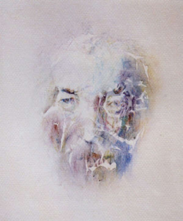 Louis le Brocquy, HRHA (b.1916) Irish Portrait in Words & Watercolour, 1990 Offset lithographic prints. Previously on sale at Adam's. www.adams.ie