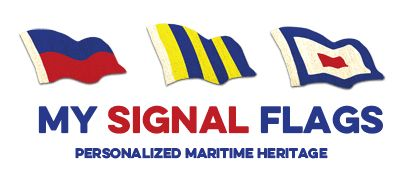 Personalized Maritime Code Signal Flags. Nautical flags. Boat flags. Alphabetical flags.