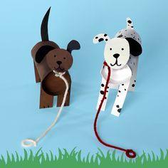 10 ideias criativas para fazer brinquedos com rolo de papel higiênico - cachorrinho