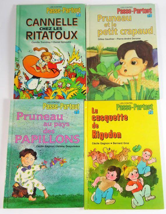 Les Contes de Passe-Partout 10 Livres Vintage en Français French Childrens Books | Adored Blessings