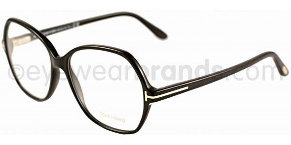 Tom Ford TF 5300 Tom Ford TF5300 001 Black Designer Glasses From  Eyewearbrands   eyewear   Goth chic, Black, Tom ford cf16547fcaf9