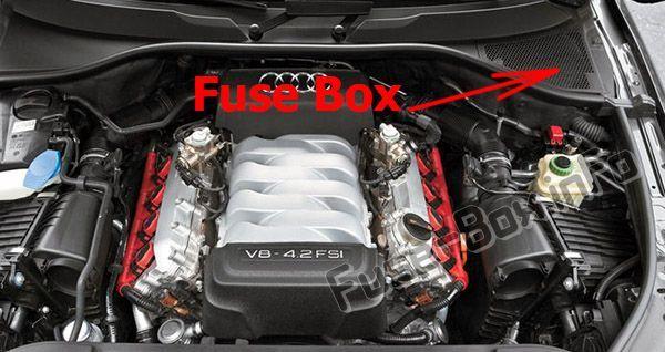 Audi Q7 (4L; 2007, 2008, 2009, 2010, 2011, 2012, 2013, 2014, 2015) Fuse box  location | Audi q7, Fuse box, Audi | Audi Q7 2007 Fuse Box |  | Pinterest