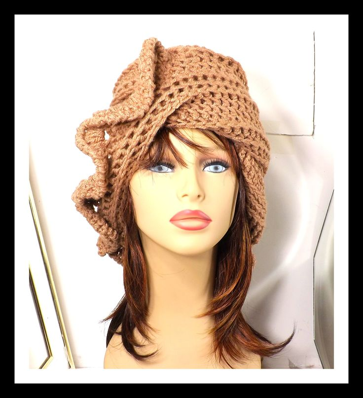 Toasted Almond Crochet Hat Womens Hat Crochet Beanie Hat Toasted Almond Hat African Hat Winter Hat CYNTHIA by strawberrycouture on Etsy  Toasted Almond Crochet Hat Womens Hat Crochet Beanie Hat Toasted Almond Hat African Hat Winter Hat CYNTHIA (45.00 USD) by strawberrycouture on Etsy http://ift.tt/1KwEV7n (Unique Womens Crochet & Knit Hats Scarves Patterns) Strawberry Couture on Etsy is about having fun with a crochet hook and knitting needles for women to wear unique crochet & knit hats…