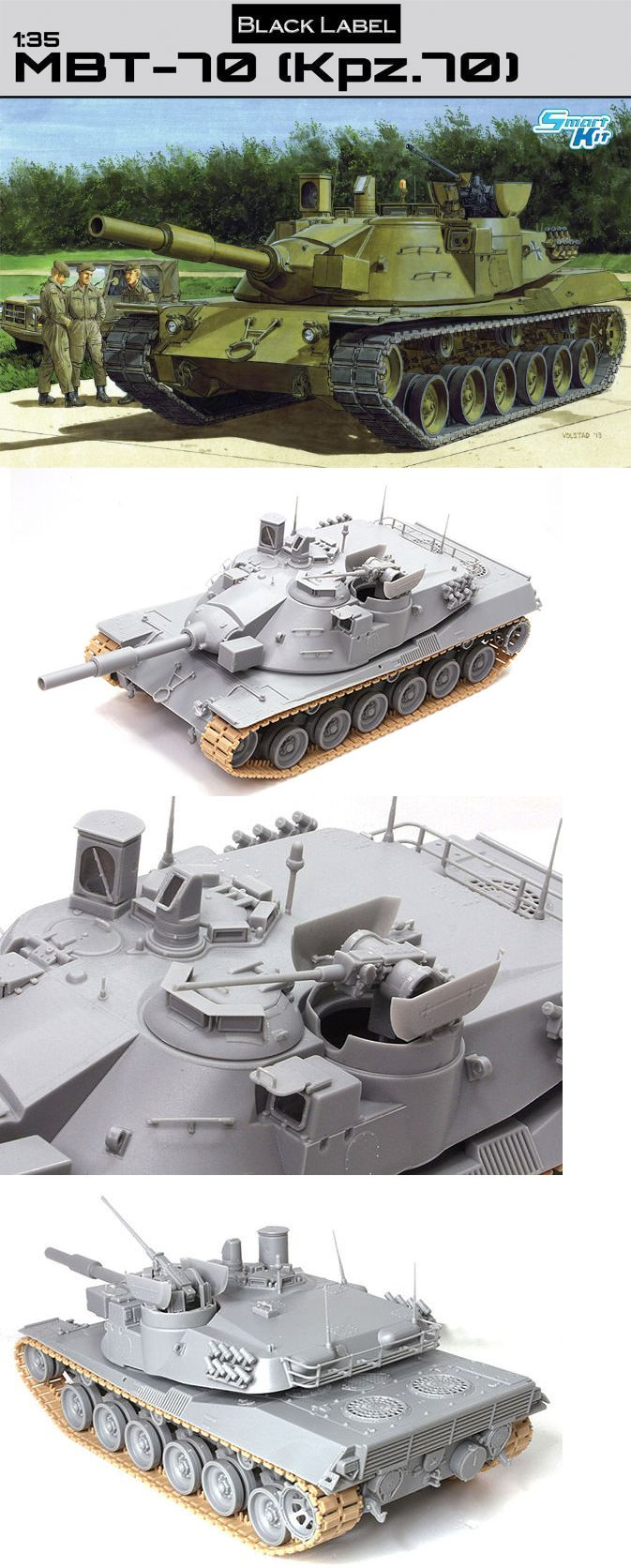 Other Military Models and Kits 1191: Dragon Models 3550 1 35 Mbt-70 (Kpz. 70) -> BUY IT NOW ONLY: $48.5 on eBay!