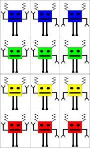 robots jeu de tri multicritères