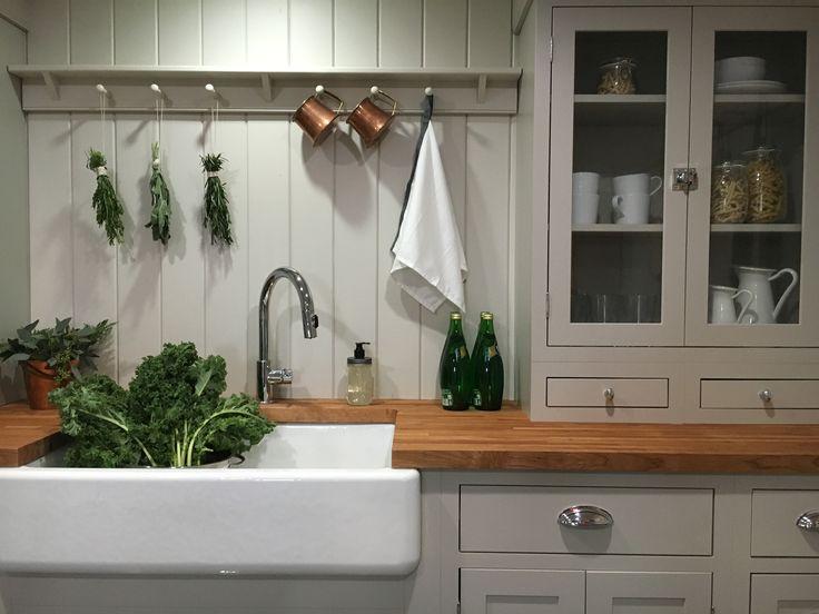 Shaker style kitchen.  Stone House Revival - Season One.
