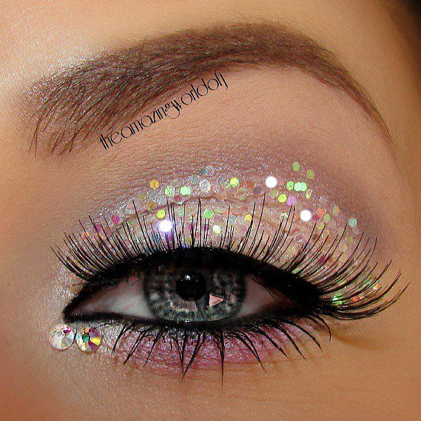 Theamazingworldofj used Glistening & Lollipop Kid along the lower lashline in this amazing sparkling look!  Get these two colors at www.bftecosmetics.com