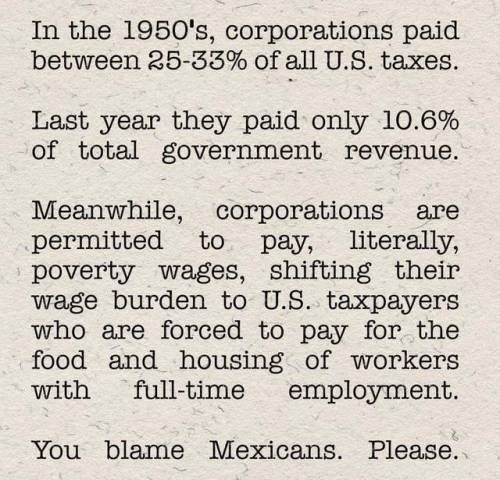 The consolidation of surplus value of labor is funneled away from workers as wages are stagnant, and those profits are given to shareholders and CEOs. All this consolidation as reckless tax cuts are given to those same shareholders/CEOs