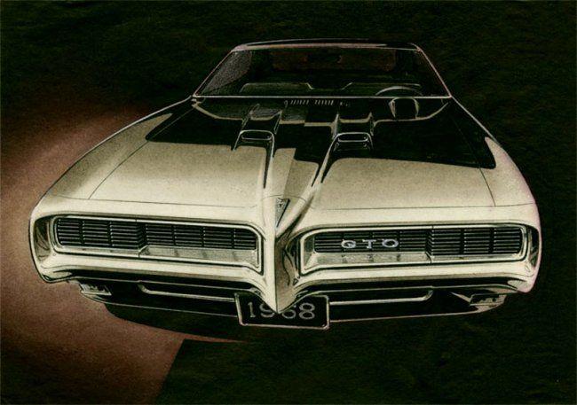 awesome vintage GTO sketch