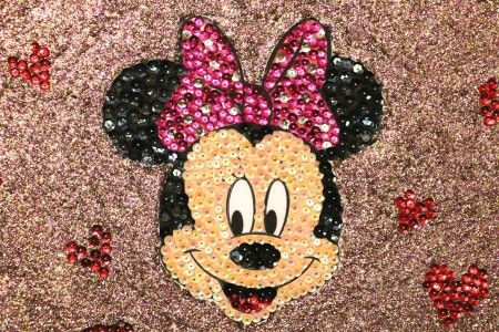 Cuadrito de Minnie Mouse de lentejuelas