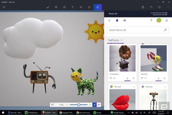 With Paint 3D and built-in game streaming, its all about creativity.