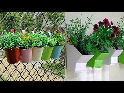 Metal Plant Flower Pot Hanging Vase Balcony Garden