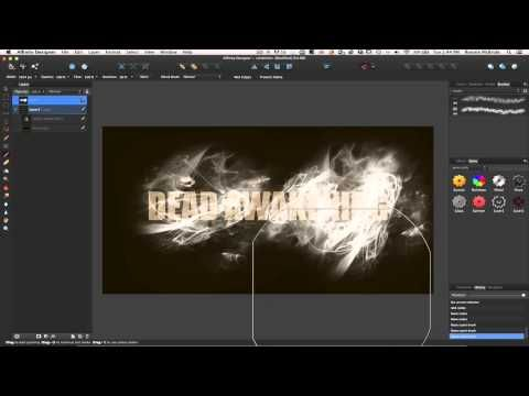 Affinity Designer Tutorial - Textures, Brushes and Blend Modes