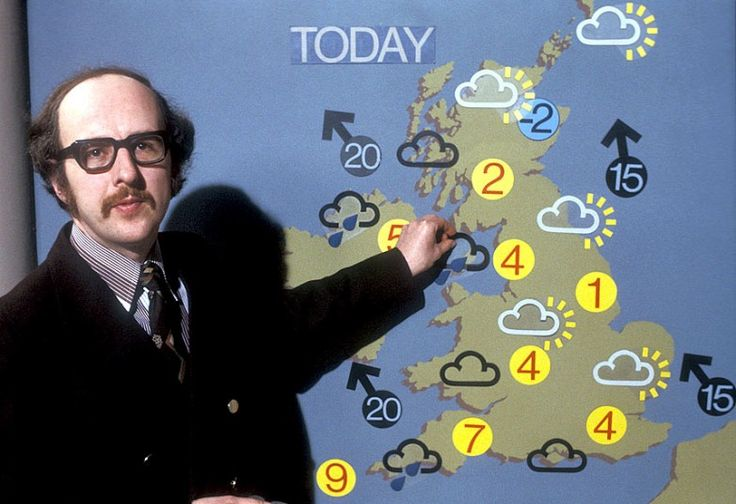 In pictures: Squally showers and warm fronts. 60 years of weather broadcasts   on BBC TV