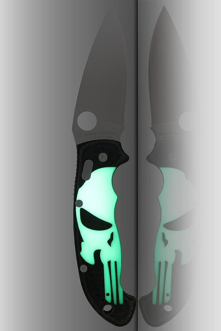 Scales for Spyderco Manix 2 Folding Knife Blade XL Micarta GITD Punisher